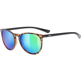UVEX LGL 43 Brille, havanna/mirror green